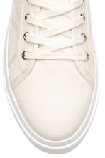 Canvas trainers - Natural white - Kids | H&M CN 3